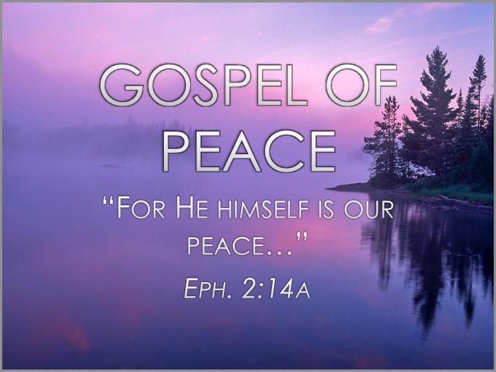 Gospel of Peace Armor of God Sermon Series