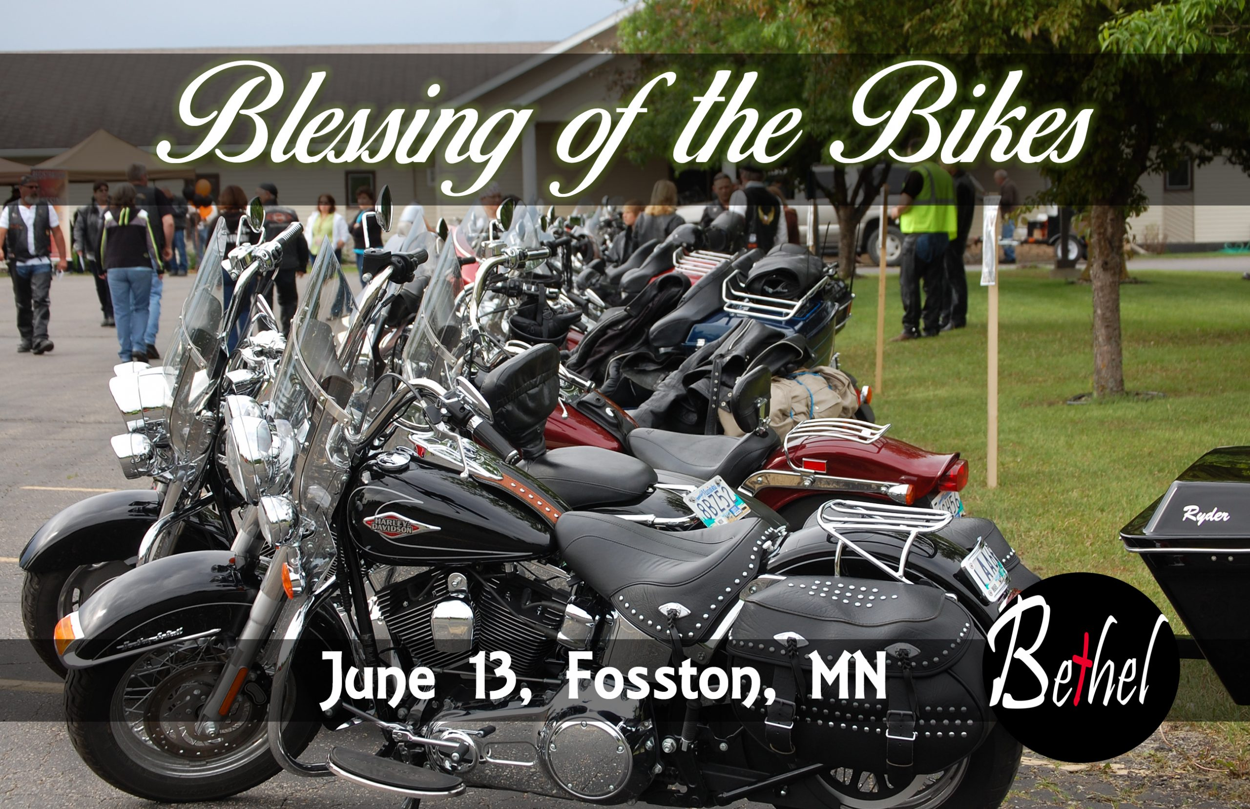 Blessing of the Bikes at Bethel Assembly in Fosston